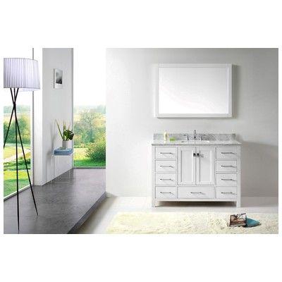 Web Image Gallery Best Deal Virtu USA Transitional Single Sink Bathroom Vanity Set White GS