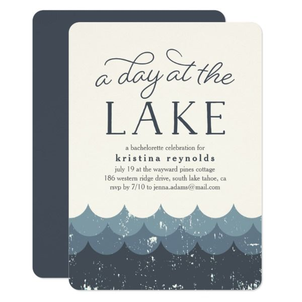 Vintage Waves Day At The Lake Invitation Zazzle Com In 2019