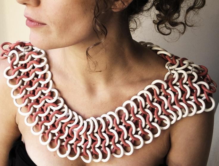 Olivia Monti Arduini  porcelain chain maille