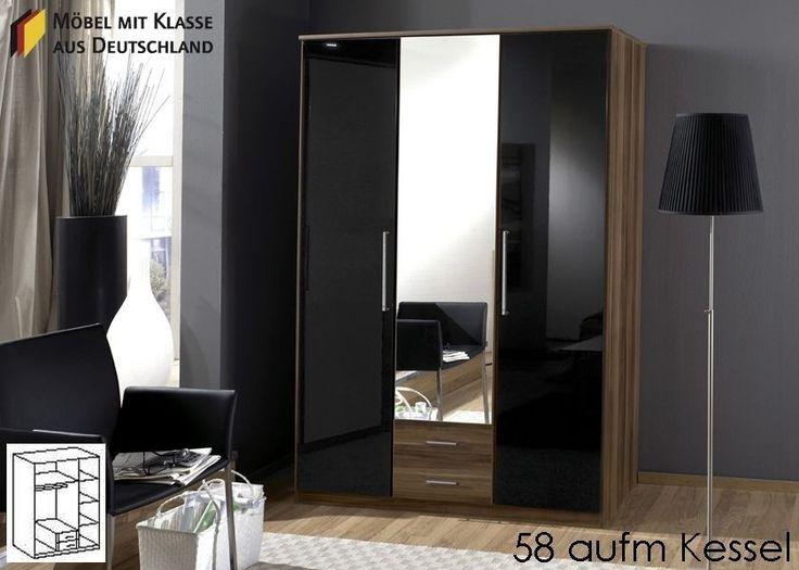 Kleiderschrank Schrank Holz Schwarz Nussbaum 3347 Buy Now At
