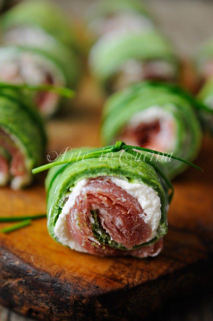 Rotolini tricolore farciti finger food veloci vickyart arte in cucina