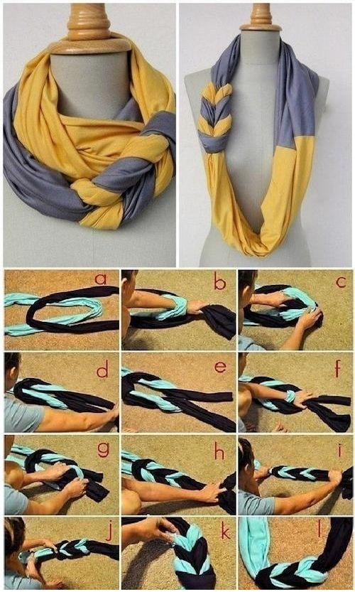 DIY Double Scarf Pictures, Photos, and Images for Facebook, Tumblr, Pinterest, and Twitter