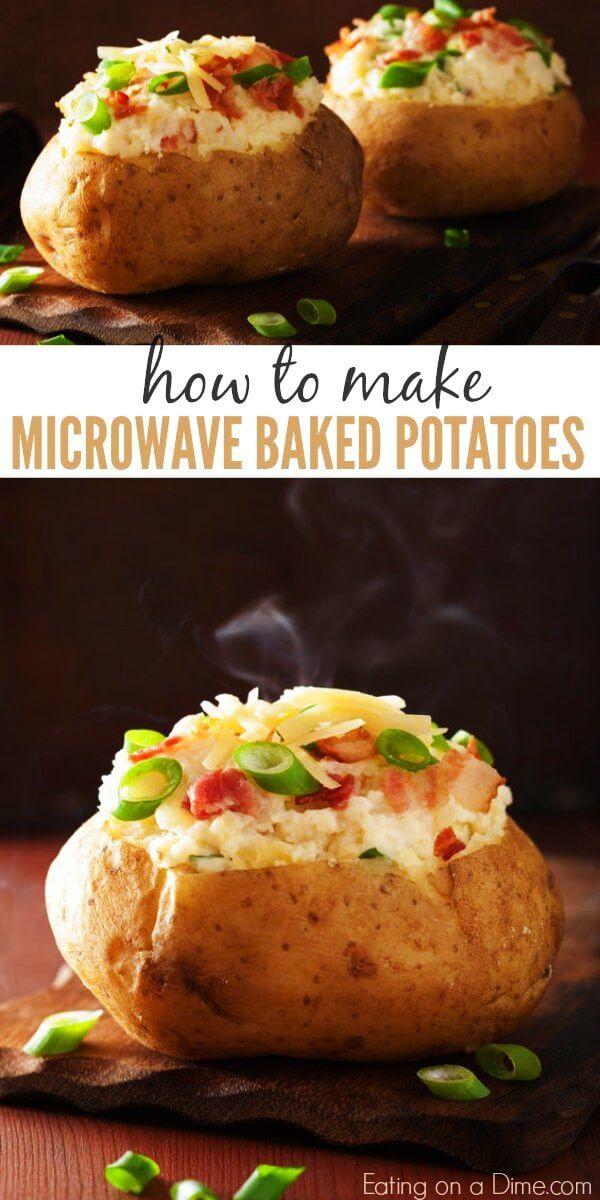 Einfache Herstellung Von Ofenkartoffeln Fur Die Mikrowelle Kartoffeln In Der Mikrowelle Rezepte Essen