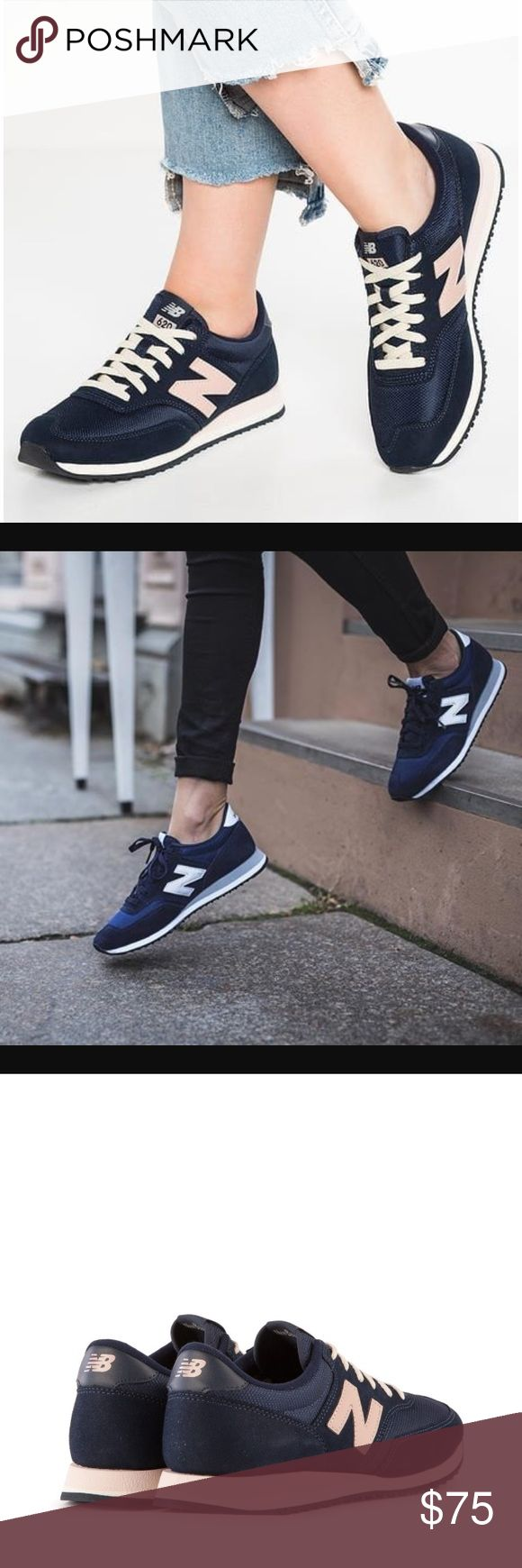 New balance navy 620 pink sneakers j . crew In stores now. Size 7. New Balance Shoes Athletic Shoes