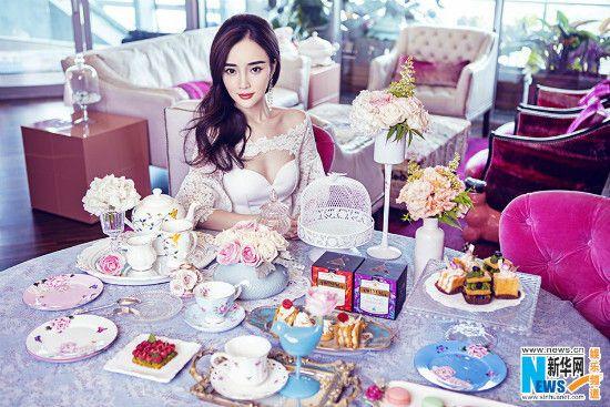 Chinese actress Li Xiaolu  http://www.chinaentertainmentnews.com/2015/08/li-xiaolu-covers-bazaar-magazine.html