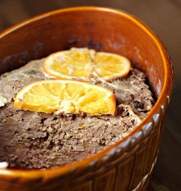 Terrine de sanglier aux pruneaux et à l'orange - Recettes de cuisine de Provence