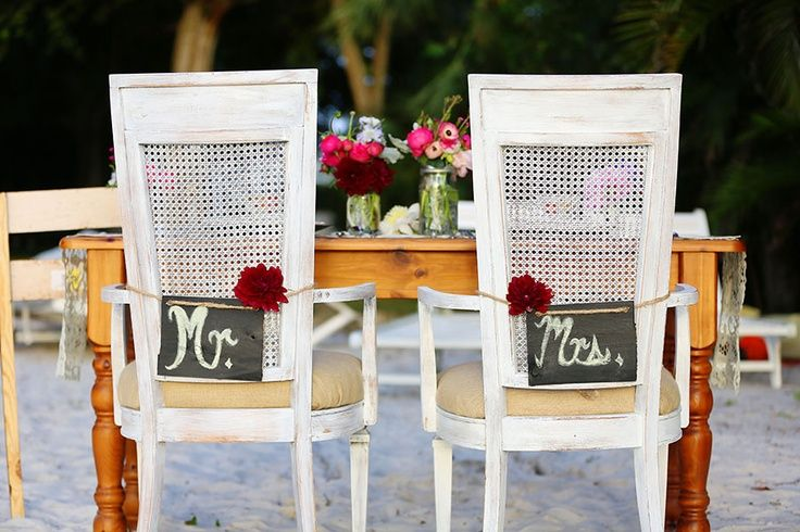 Cute wedding reception chair on the beach decoration ideas