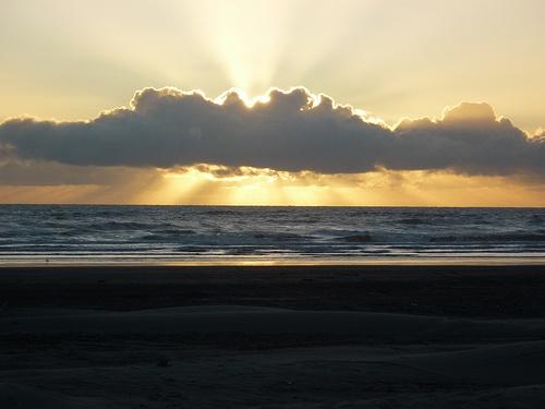 Sunset at Waiterere Beach