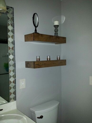 DIY Floating Shelves above toilet   – Our House Projects – #Diy #Floating #House…  – Shelvess