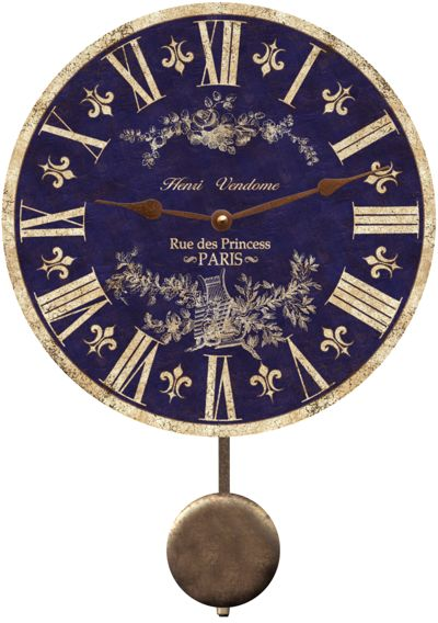Henri Vendome clock made in Paris. Isn't it lovely? The rich blue has such a vivid appeal.