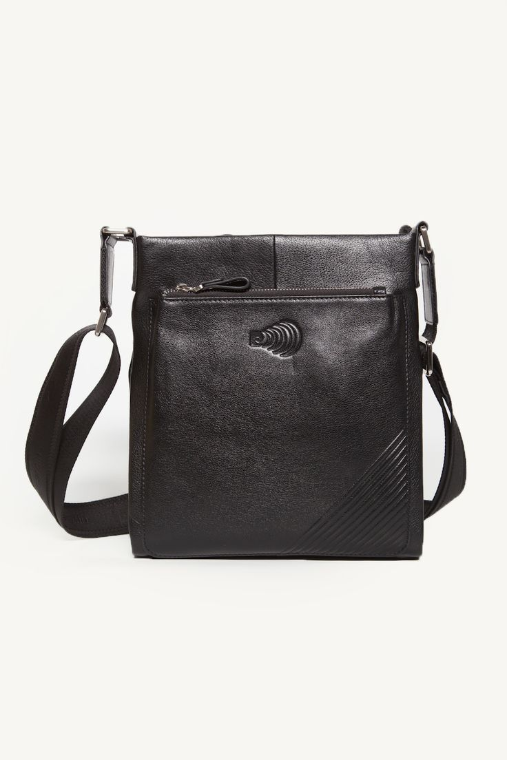 Black Zippered Sling Bag