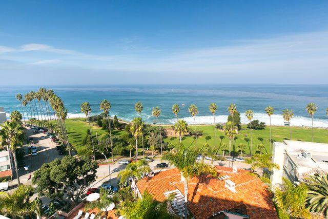 The view from La Valencia Hotel in La Jolla, CA