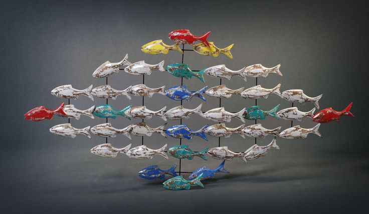 Boatwood Fish Wall Hangings by PUNKITUP2016 on Etsy