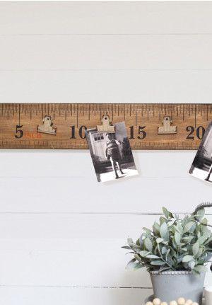 Ruler Wall Art Decor Clip Polaroid Display Rustic
