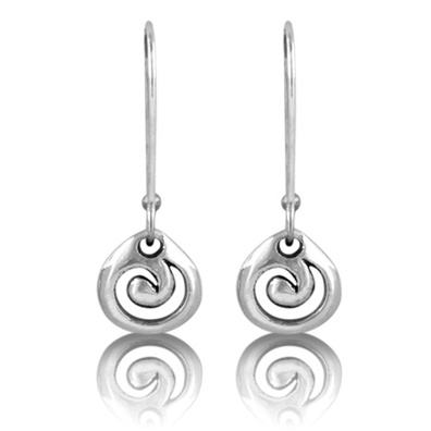 Silver and Some - Evolve - Earrings & Cufflinks, Evolve Koru Drops