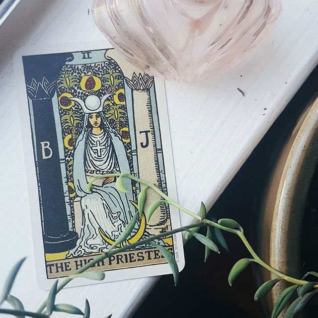 Sharing my favorite tarot and oracle decks on the blog today. The Smith-Waite deck is such a classic and the High Priestess is my favorite card in it! What's your fave Smith-Waite card? #witchcraft #witchesofinstagram #witchvibes #witchaesthetic #highpriestess #tarot #tarotreadersofinstagram #highpriestesstarot #smithwaitecentennial