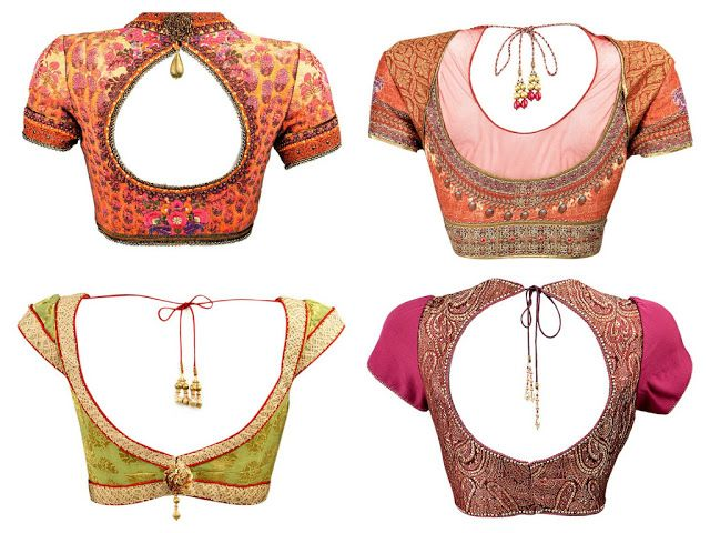 so beautiful http://www.TarunTahiliani.com/ open back Blouses for #Saree, Lehenga #Desi #Fashion