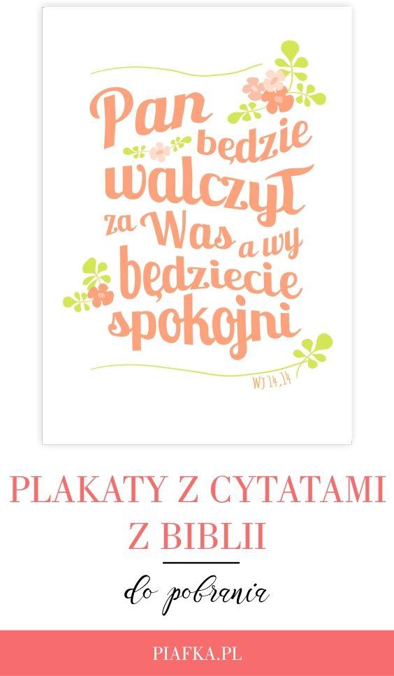 Plakaty Z Cytatami Z Biblii Do Pobrania Piafka Wersety