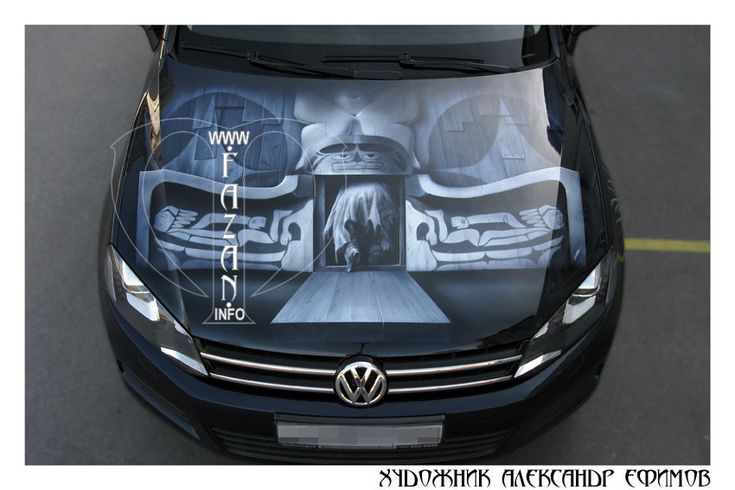 "Аэрография на капоте Volkswagen Touareg по мотивам фильма ""Мертвец"".  #vw #volkswagen #art #airbrush #paint"