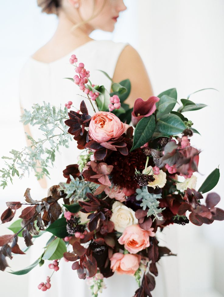 Modern, Minimal Wedding Inspiration on Once Wed » Sweet Emilia Jane / jewel tone bouquet