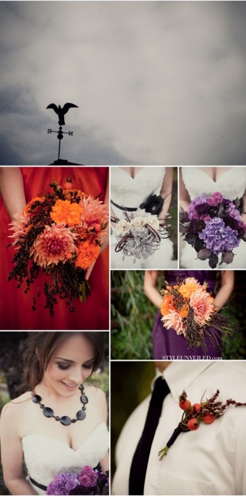 Wedding Flowers Saturdays: Halloween Wedding Flowers, read on at My Inspired Wedding! #halloween #wedding