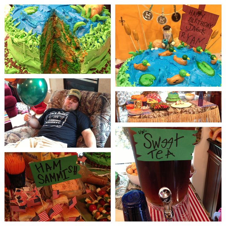 Duck Dynasty themed party for my hubby