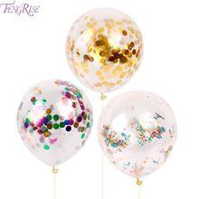 FENGRISE 10 stks 12 inch Confetti Ballon Romantische Bruiloft Decoratie Goud Schuim Clear Confetti Ballonnen Verjaardag Feestartikelen(China (Mainland))