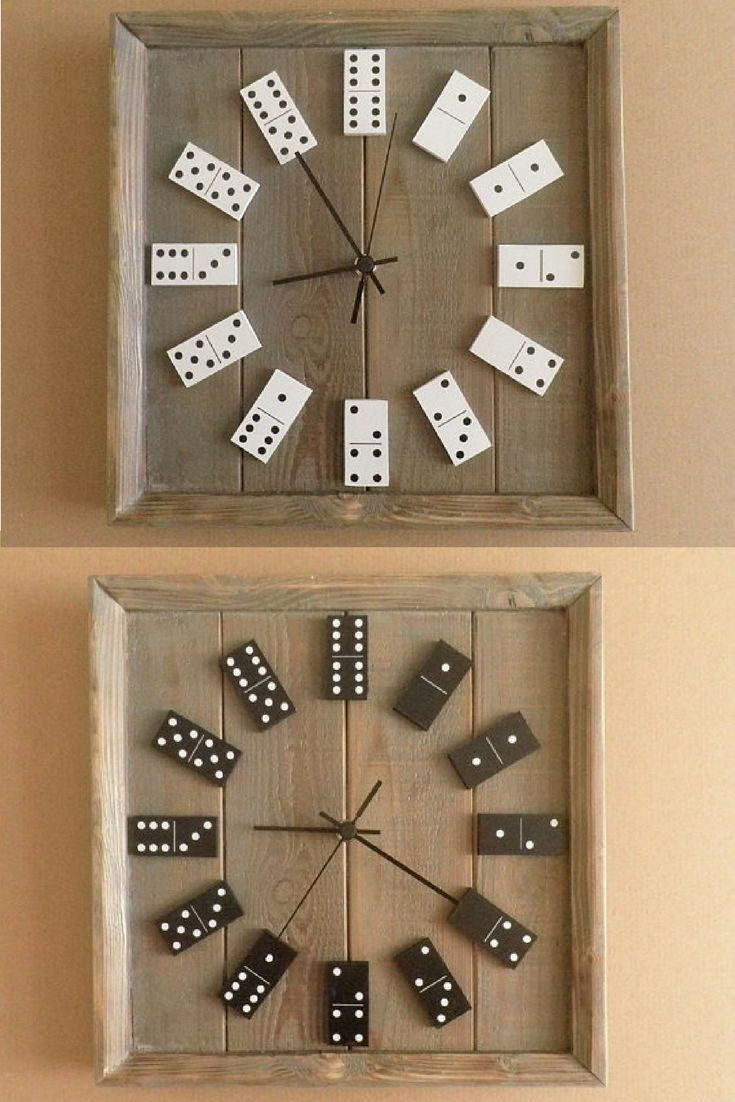 Best 25 unique wall clocks ideas on pinterest clock ideas wall 5341 domino clock black or white colour domino clock reclaimed wood pallet wood amipublicfo Gallery