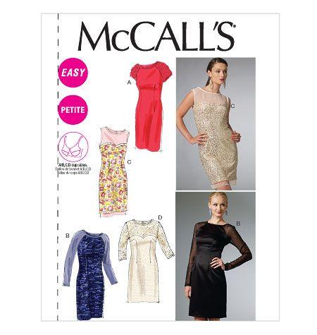 M6460, Misses'/Miss Petite Dresses