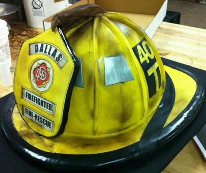 Firefighter Helmet Cake | Shared by LION