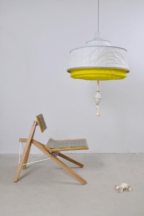 Wouter Scheublin's chair & Lotti Lindeman's lamp in their atelier at Piet Hein Eek. LOCATION DDW202: ATELIER AT STRIJP R PHE