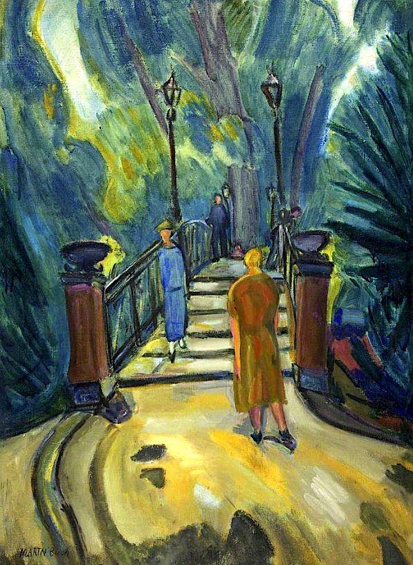 Martin Bloch, Bridge in the Tiergarten, Berlin, 1920