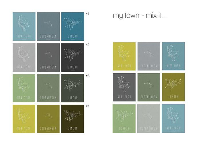 """my city"" by Amalie Muff, choose scale http://www.amaliemuff.dk/p/grafik_23.html"