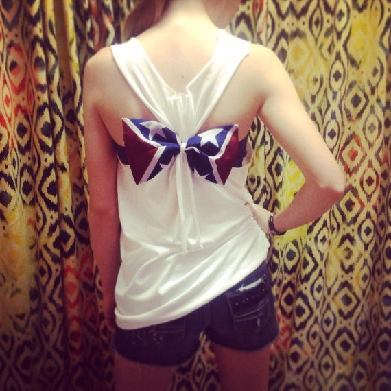 Rebel Flag Bow Racerback Tank Top Redneck Mudding Camo Swimsuit Cover-up Bridesmaids Gift on Etsy, $21.95