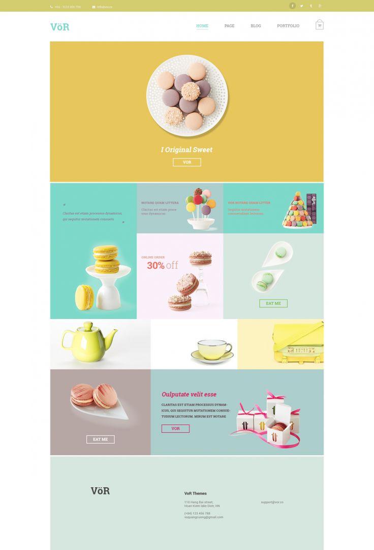 Vor – Sweet Cake PSD Template