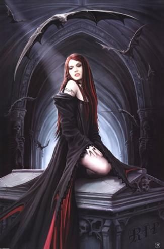 Anne Stokes Art | Anne Stokes - Await The Night by Anne Stokes poster | ArtFuzz