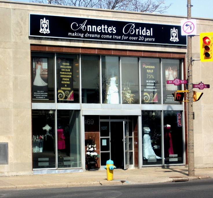 Annette's Bridal, located on the corner of St.Paul and Geneva in St.Catharines Ontario