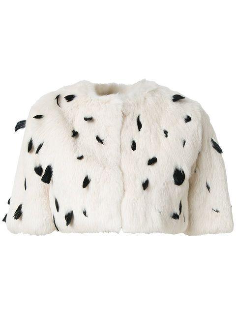 Andrea Bogosian fur cropped jacket