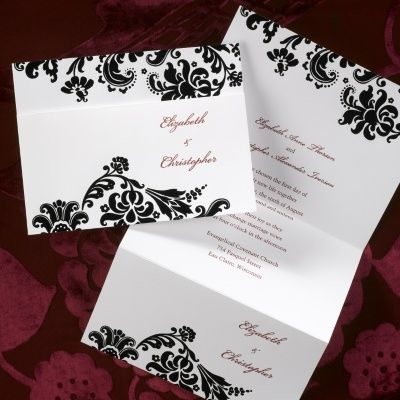 Damask Trifold   Invitation | Carlson Craft Wedding U0026 Stationery Products