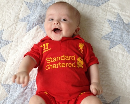 Babies in kits 4 liverpool fc