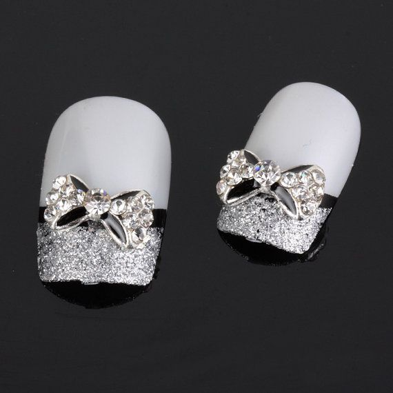 50pcs 3D Alloy Bow Tie Nail Art stickers by iArtSupplies on Etsy