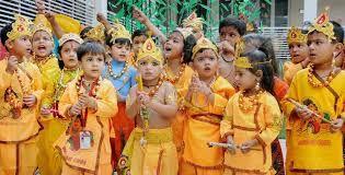 Children make a krishan.