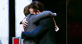 Chris Evans and Robert Downey Jr.