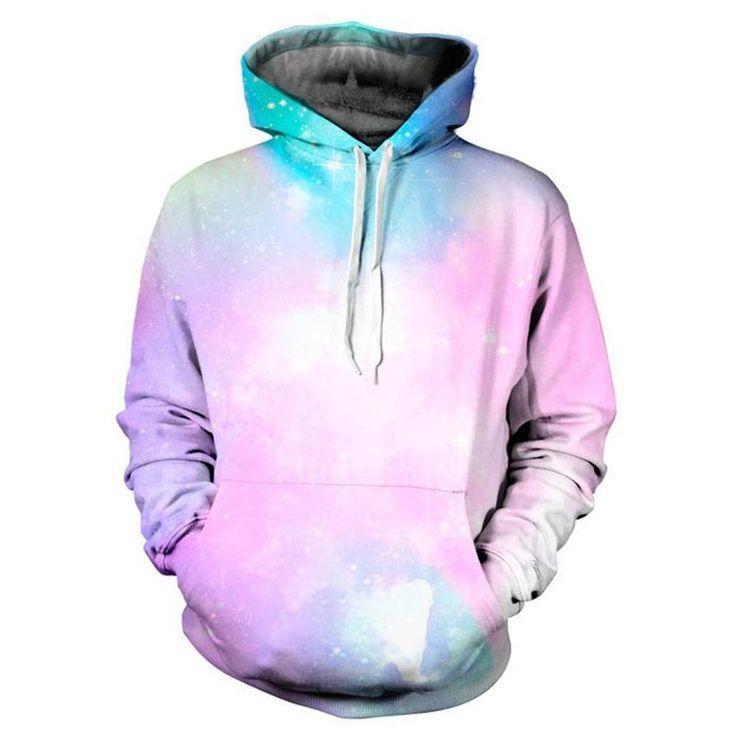 Mr.1991INC Space Galaxy 3d Sweatshirts Men/Women Hoodies With Hat Print Stars Nebula Autumn Winter Thin Hooded Hoody Tops