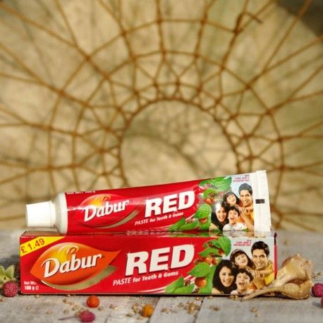 Ajurwedyjska ziołowa pasta do zębów Red 200g   Dabur Red for Teeth & Gums