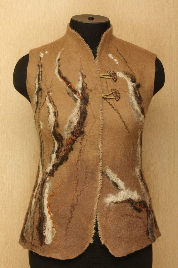 Night Watch / Felted Clothing / Vest by LybaV on Etsy, $200.00 ships from Russia