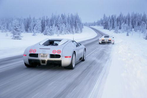 Veyron in a winter wonderland