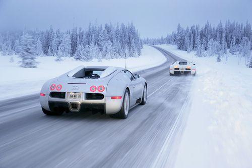 Veyron in a winter wonderland