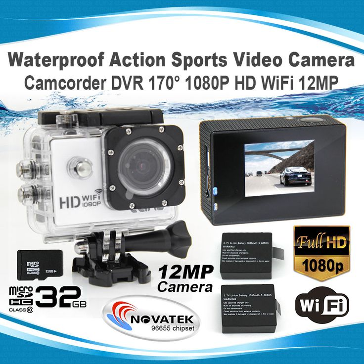Waterproof Action Sports Video Camera Camcorder 170° 1080P HD WiFi 1.5 LCD 32GB