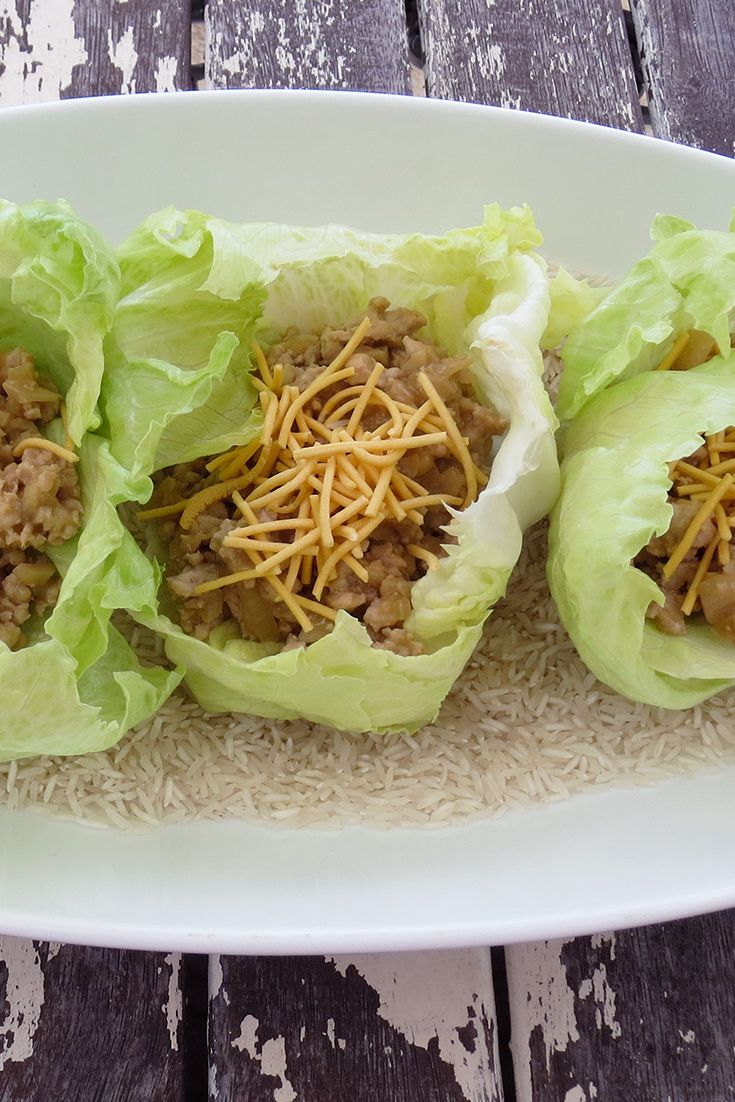 Sub out beef mince for chicken mince this week and make yummy San Chow Bow by GlitterQueen.